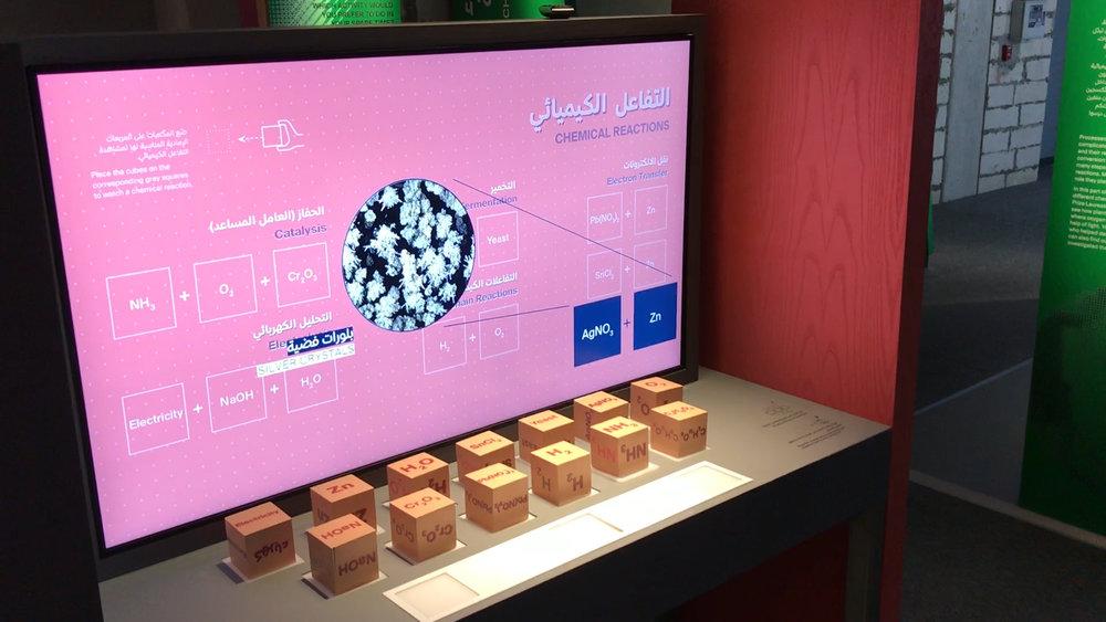 Interactive exhibit showing metal displacement