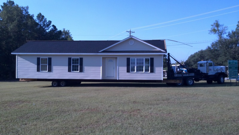 Loaded for travel, this house was relocated within the city of Batesburg.