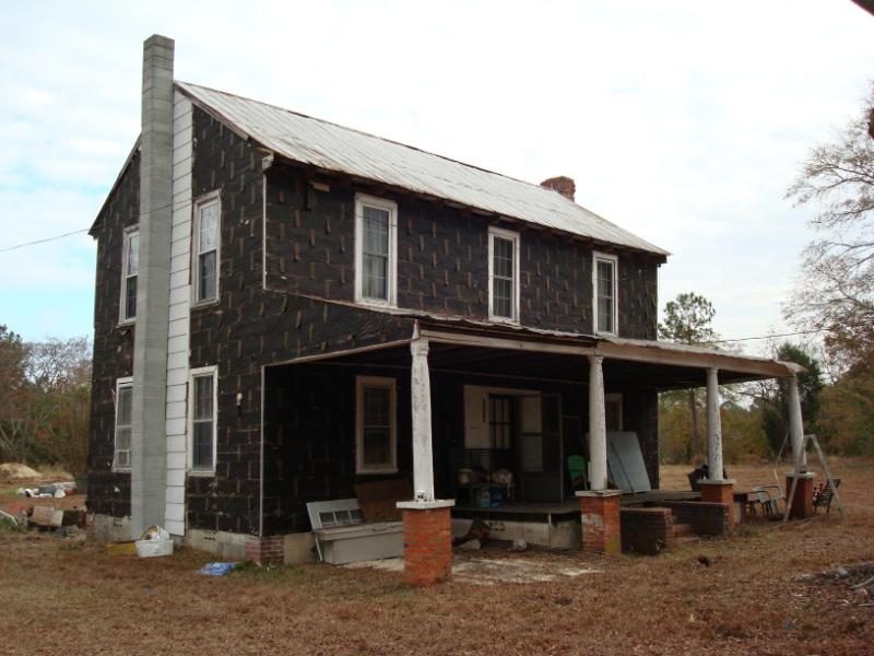 This home, built in the 1800s, was raised in order to receive a new foundation.