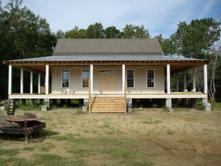 This house in Johns Island needed to be raised in order to replace an old foundation.