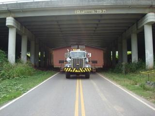 This doublewide passed right under I-77 while being moved in Fort Mill.