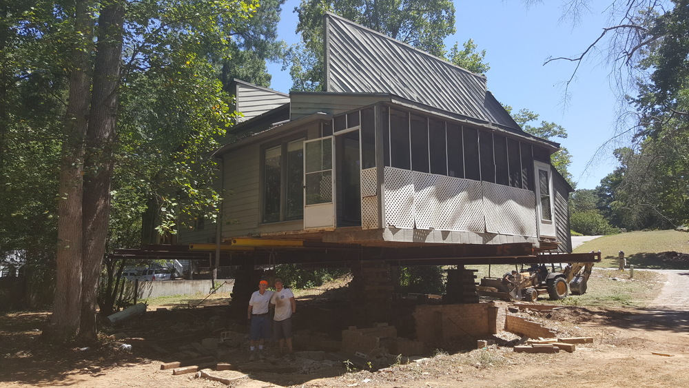 This home has been raised 9 feet in order to meet new regulations after the SC flood.