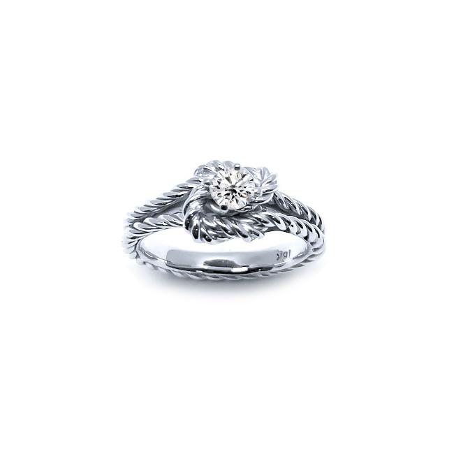 Engagement Ring True Lovers Knot Diamond Rings