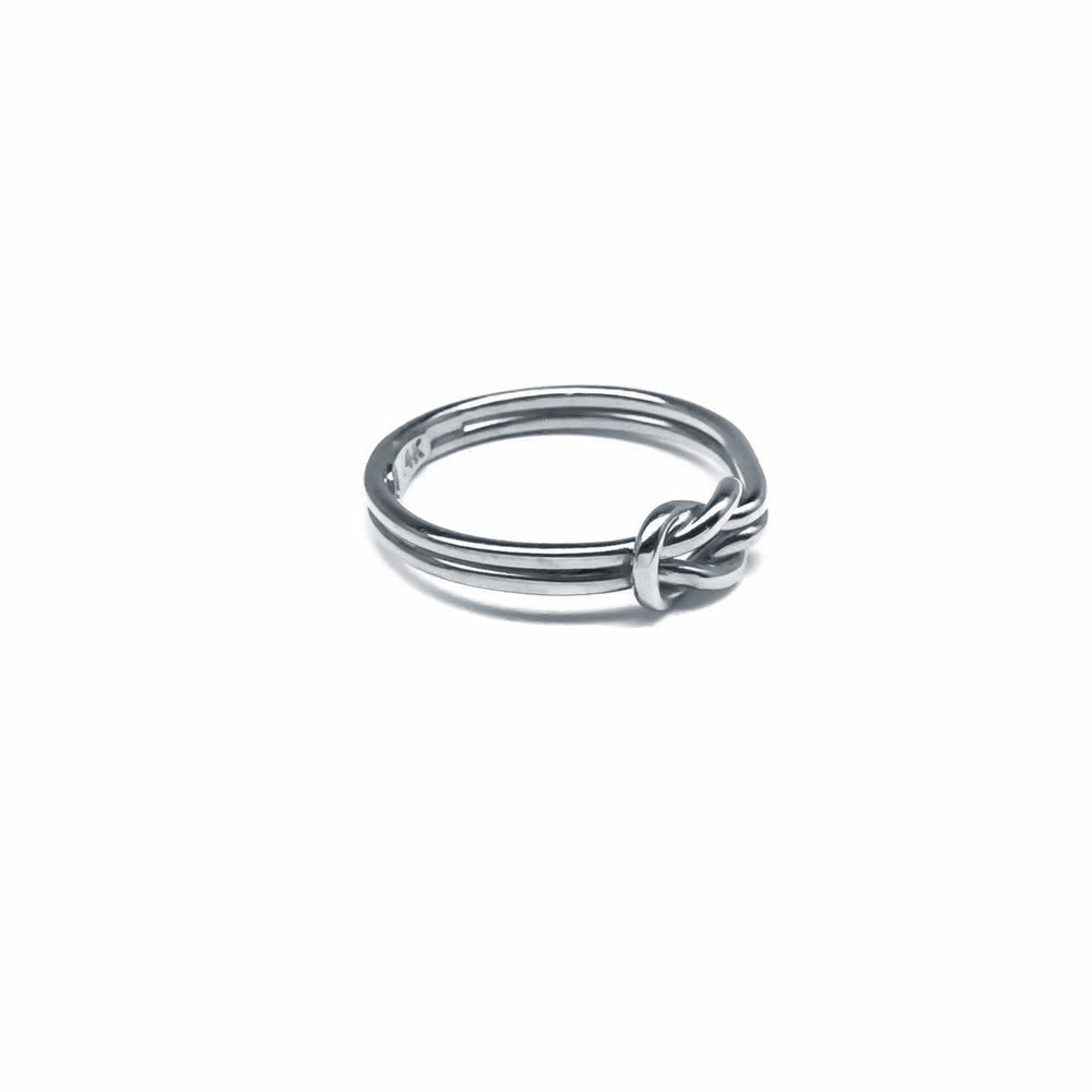 Knot Rings Gold Square Knot Ring