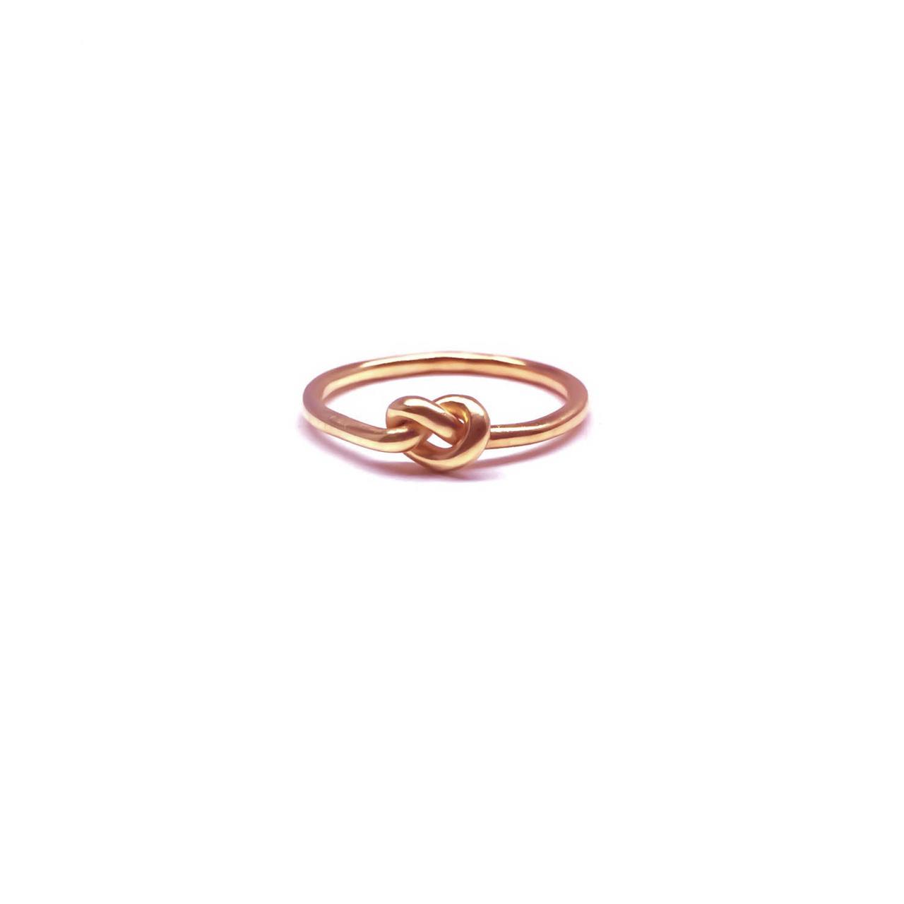 Knot Rings Rose Gold Celtic Ring