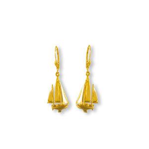 5cc0d51cf Fancy Sailboat Gold Earrings. from 800.00. Sailing Gold Earrings ...