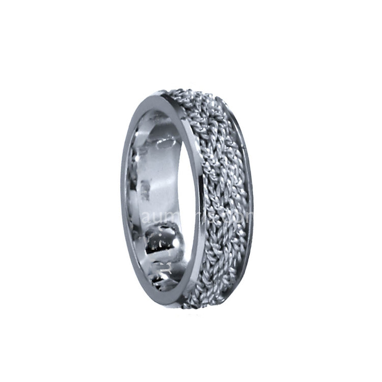 platinum wedding flat bands s men edge