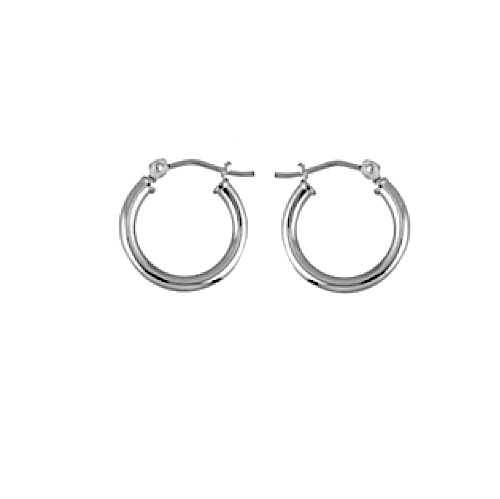 645a1c0fbbc White Gold Pirate Hoop Earring for Men -