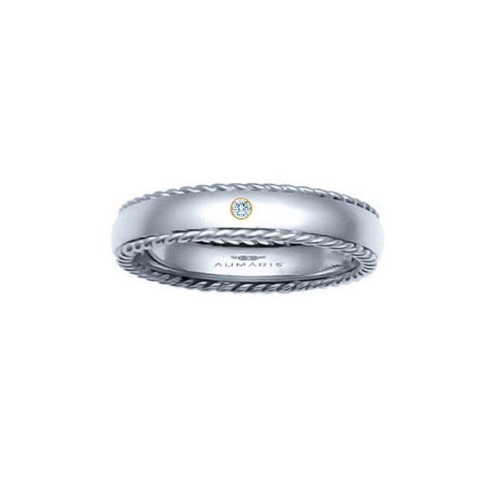 Maritime Wedding rings Handmade mens nautical rings Gold Wedding