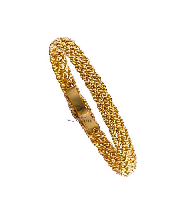 Small Nautical Gold Bracelet Yellow
