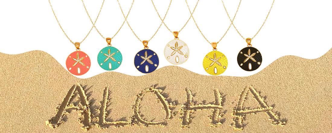 Nautical jewelry shop fine starfish sea life coastal pendants nautical jewelry sand dollar pendantsg aloadofball Gallery