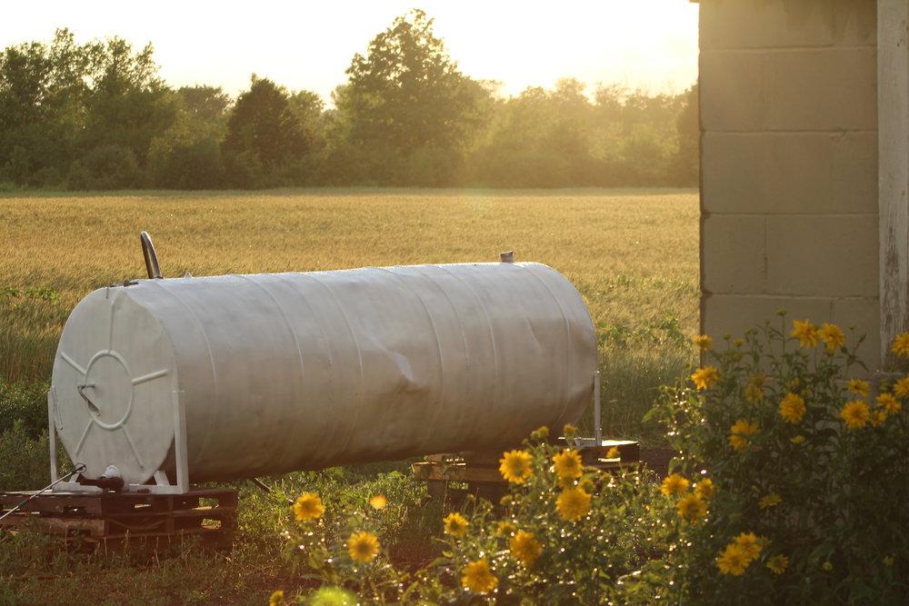Girdie, the water tank.
