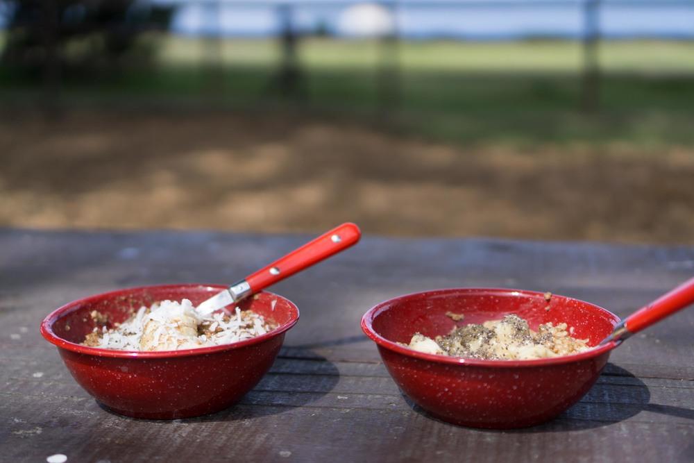 Next morning oats.