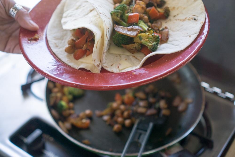 Van staples: veggie burritos 🌯