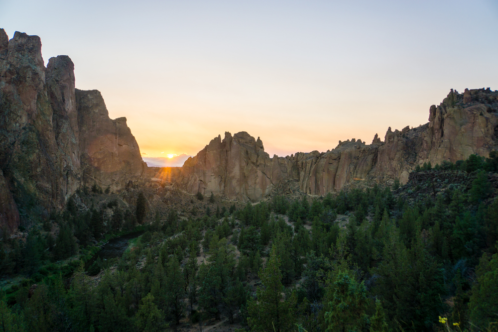 Smith Rock golden hour magic