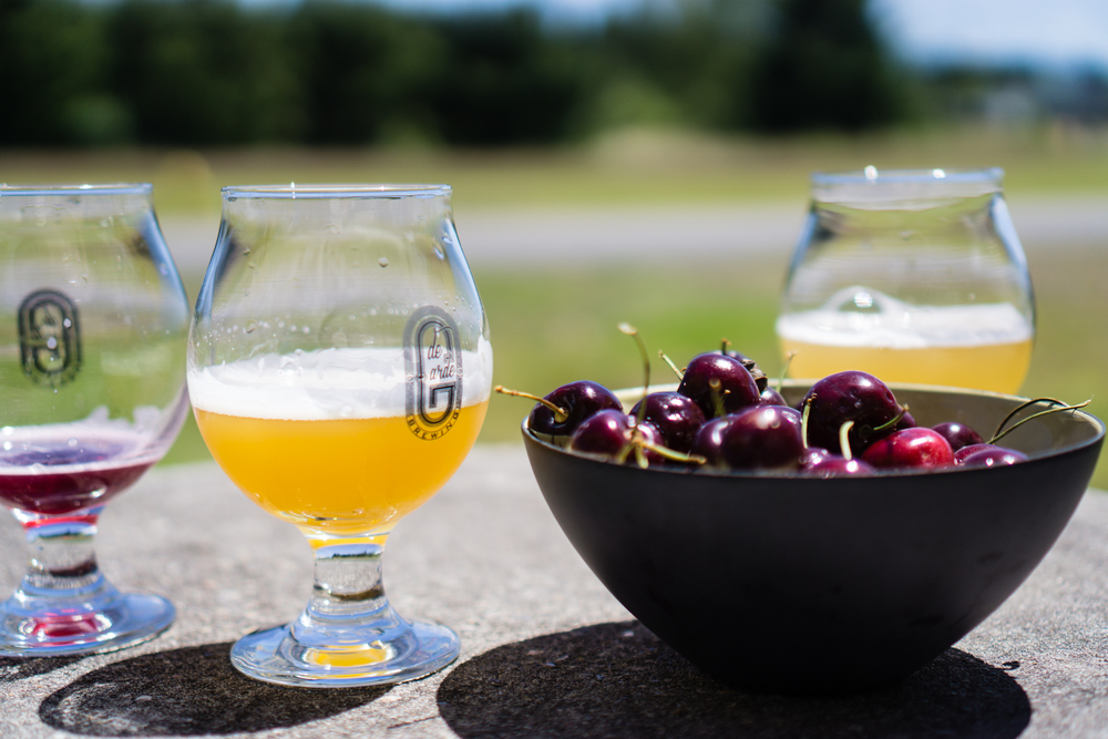 De Garde Brewing with a free bowl of cherries