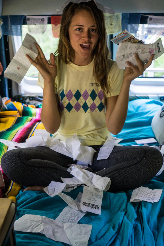Sarah takes budgeting VERY seriously