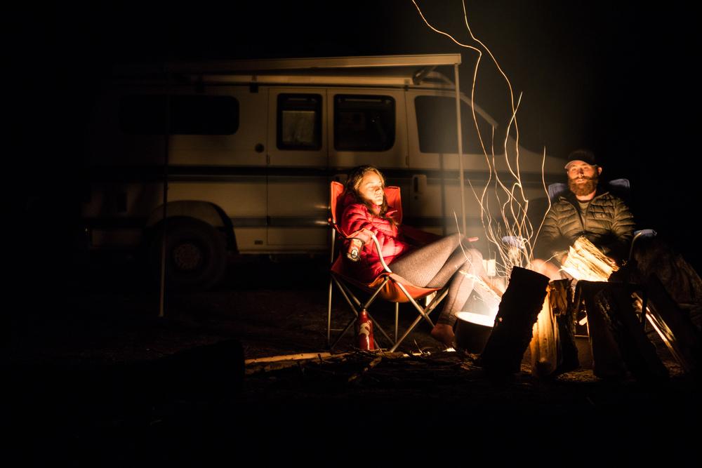 Sleepy campfire time