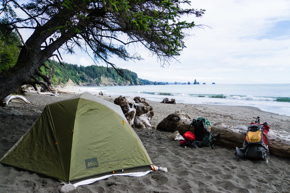 Backpacking at La Push, one of our favorite spots of all time