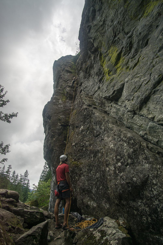 Climbing with the neighbors
