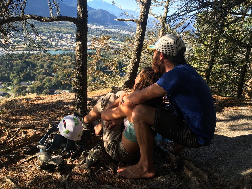 Post climb hangs. Snapped by Chris Freestone.
