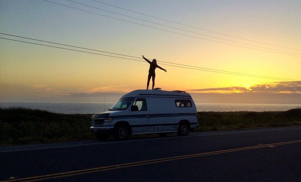 The first day with the van, cruising up Hwy 1