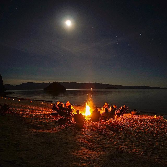 Rang in the new year with a potluck, bonfire and a little howling at the moon✨🏝🎉