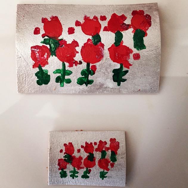 matching rectangular barrettes