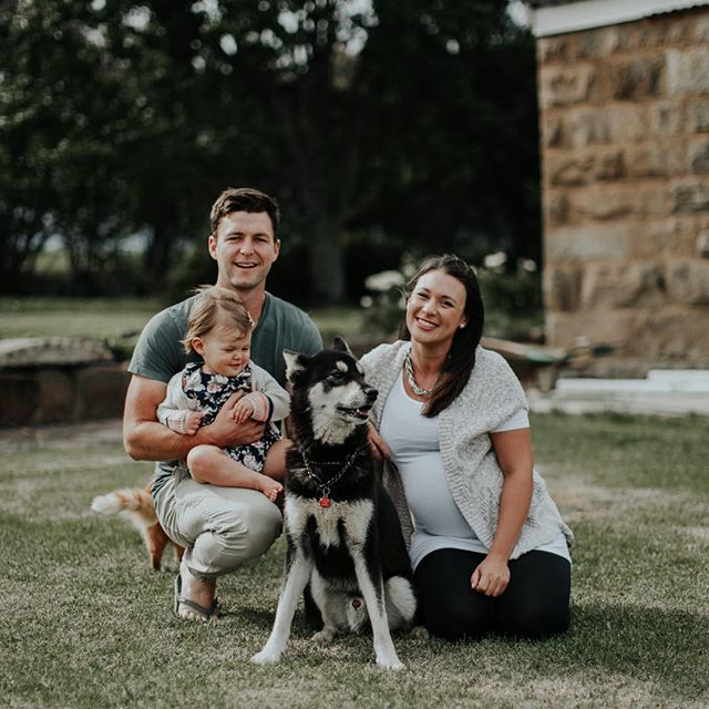 Happy smiles all around, a few short days before little Aaron made his appearance. Thank you for the wonderful memories @kristi_nicole_smith 💕 #HappyHuttons #FarmboyAndCityGirl