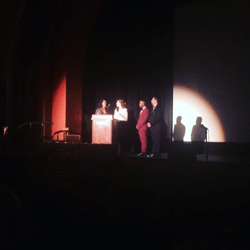 Shocked to be giving a thank-you speech at the 1,200-seat historic Avalon Theatre!