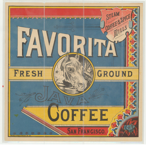 "Trademark Filing for Favorita Coffee, from the California State Archive's ""Old Series"" Trademarks"