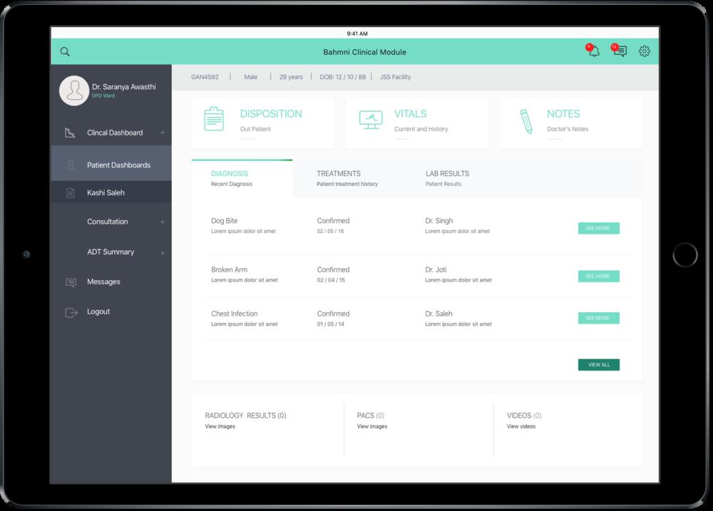 New Bahmni UI wireframes