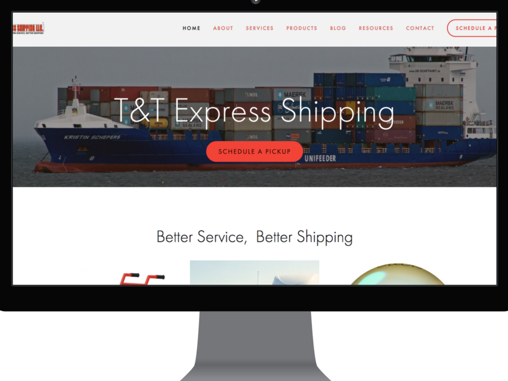 T&T Express website 2017.png