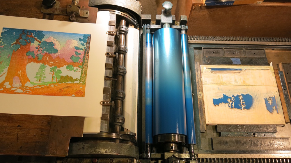 printing 2nd reduction blue block