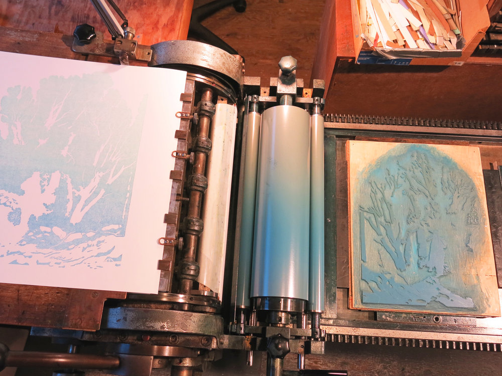 First color layers at Quail Press
