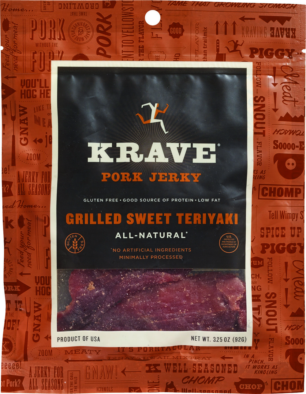 Krave Pork Jerky Grilled Sweet Teriyaki