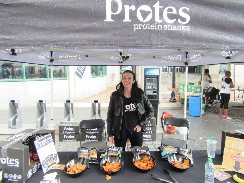 Protes Protein Chips representing at City Challenge Race. You can find them at Vitamin Shoppe!