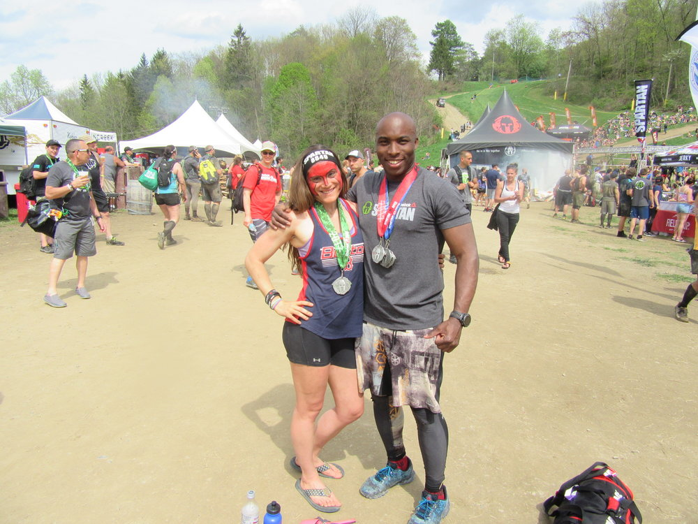 Katie Purcell and Fit Four-sponsored OCR Athlete Hartley Mahfood (Instagram.com/juggernaut_ocr)