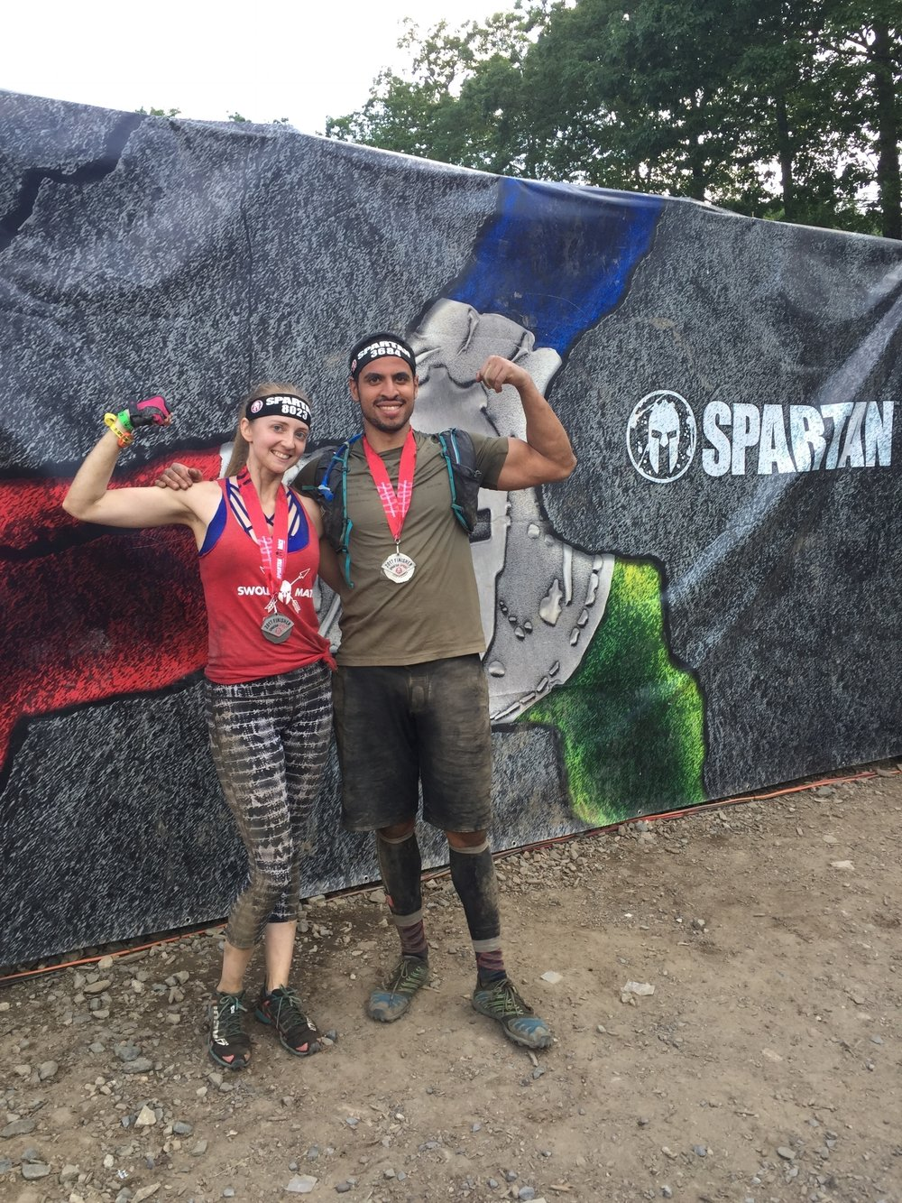 Spartan SGX trainee Silvija and I,