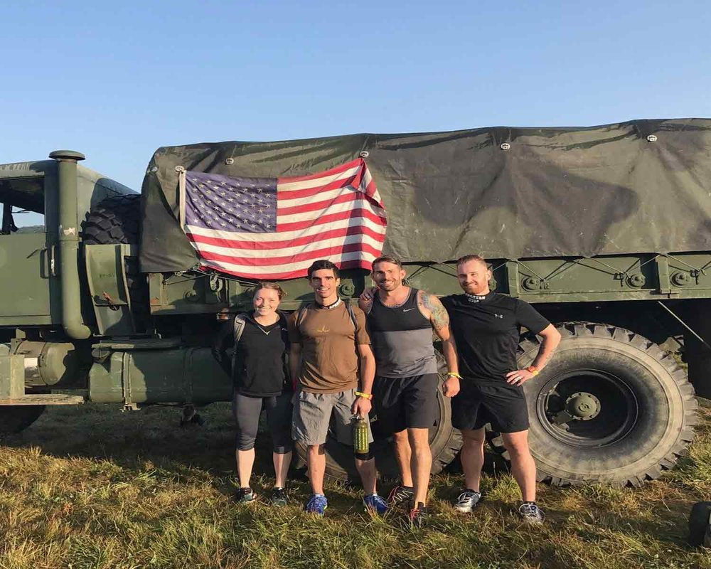 Steve Pokk and friends at the West Point Spartan Race Sprint.