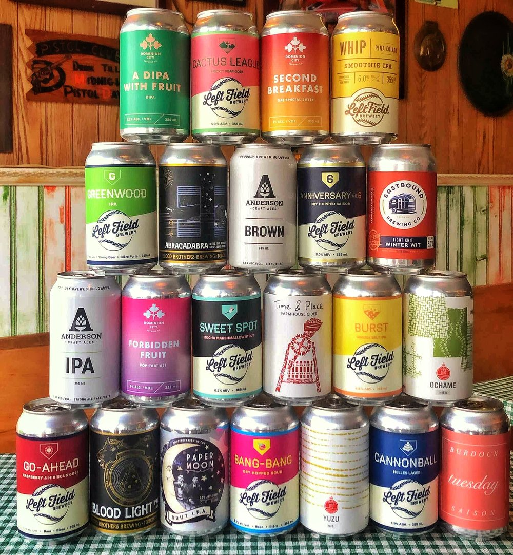 We are always bringing in new and exciting short cans from across the province of OntariO and beyond. cHECK ouT OUR MENU FROM uNTAPPD DOWN BELOW - Menu curated by @BeerGirlCA