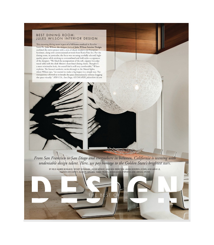 Modern Luxury Interiors California, Best of Design 2017