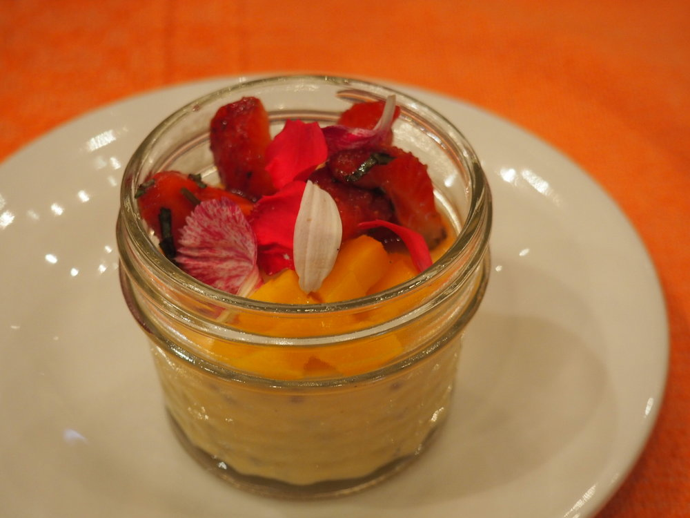 Mango panna cotta. Photo by Jackie Bryant.