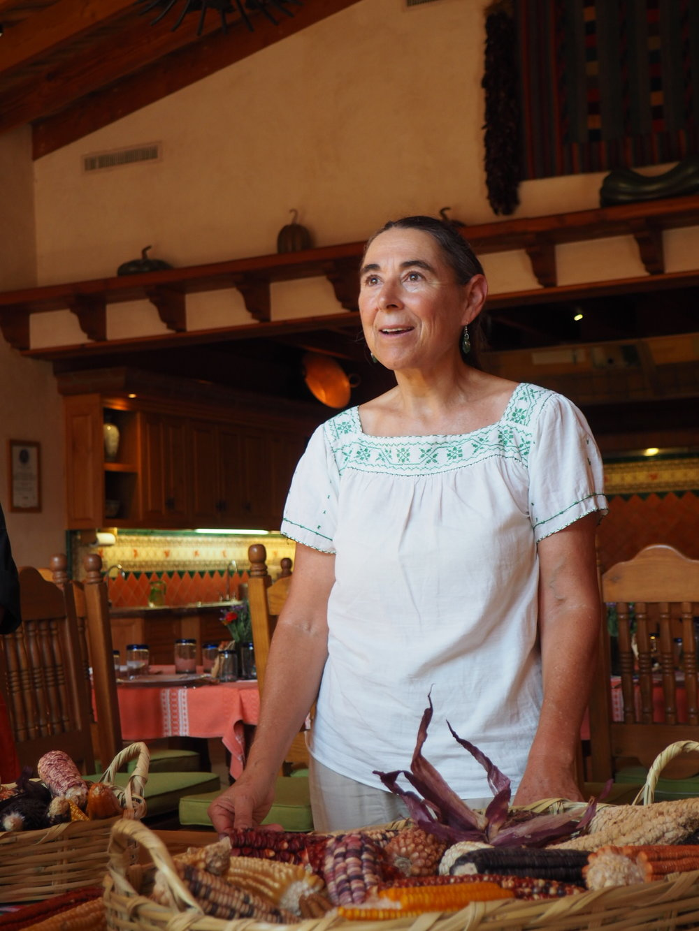 Sarah Livia in awe while listening about Mexican heirloom corn. Nothing I love more than fellow food geeks. Photo by Jackie Bryant.