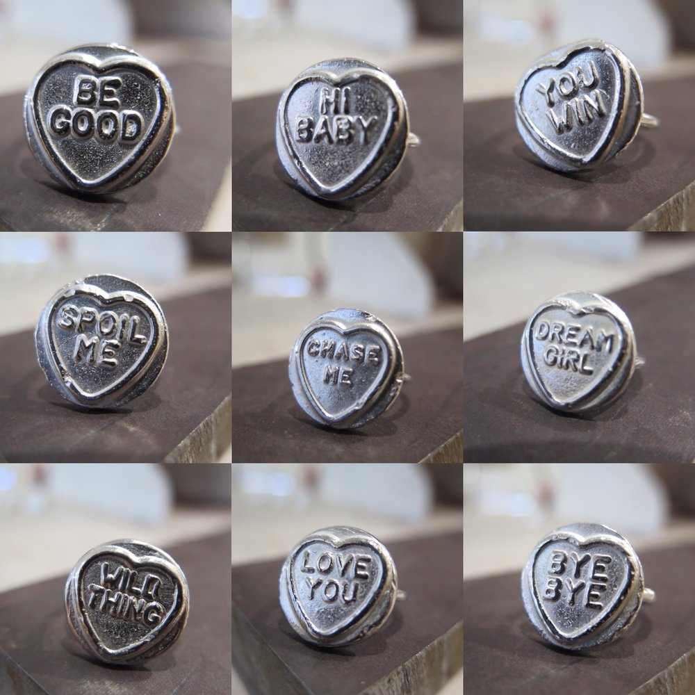 candy heart rings