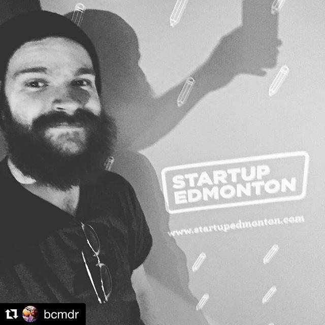 "Brett (@bcmdr) is reppin' Shallwi at @startupedmonton tonight. If you see him, say ""hey"". 😎 #yeg #yegdt #yeggers #edmonton #downtownedmonton #madeinyeg #yeglocal #graphicdesign #graphics #artwork #vector #webdesign #websites #merchandising #digitaldesign #branding #wedoawesome #dreambig #yegbiz #edmontonbusiness #albertabiz #albertabusiness #smallbiz #smallbusiness #supportsmallbusiness #shallwi"