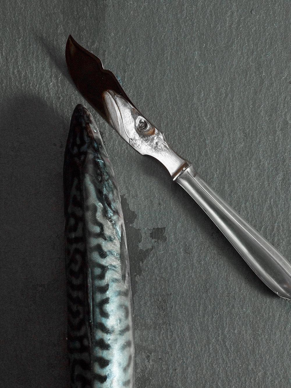 Fisch und Fischmesser Still Life