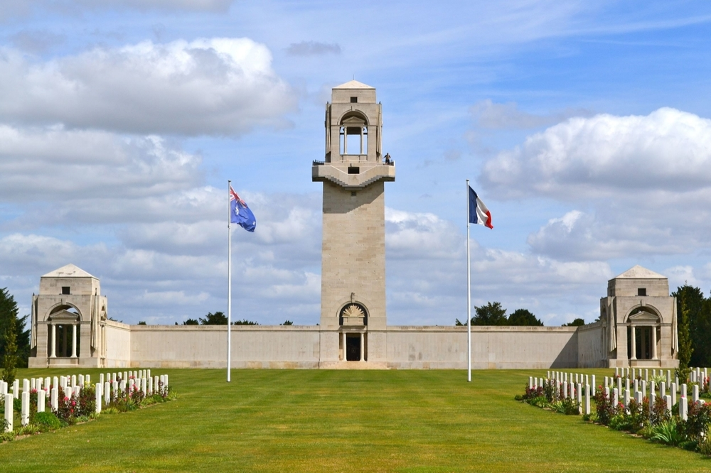 The Australian National Memorial at Villers-Bretonneux, France