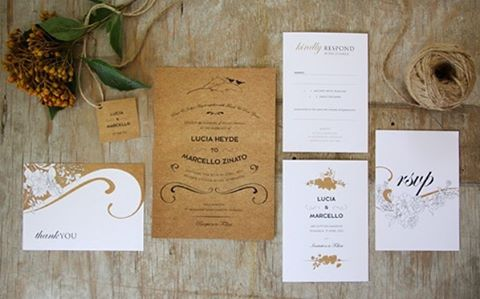 Wild Flower. Available online now! - #inviteemporium #weddingstationery #wildflower #australiana #native #bushwedding #camp #rustic