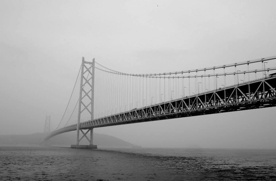 Awaji-Kaikyo Bridge:Sumiyoshi-Taisha to Awaji (140km on TT bike). Taken 7.21.2013.